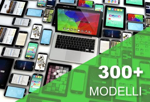 Più di 300 modelli di cover personalizzabili